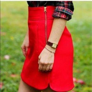 J. Crew Skirt holiday Christmas red 0